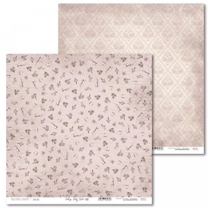 Laserowe Love - Papier do scrapbookingu 30,5 x 31,5 cm  - Vintage Baby Girl 02