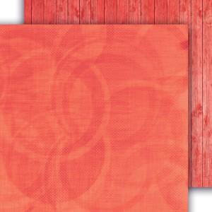 Signs of love -  papier do scrapbookingu  04 czerwony 15 cm x 15 cm