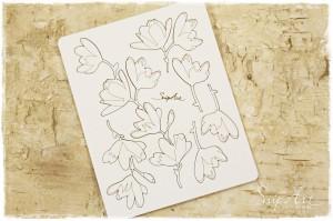 SnipArt -  Gałązki kwiatów - zestaw