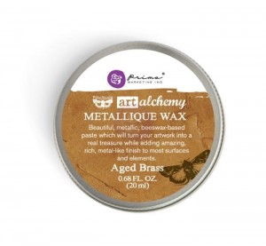 Wosk Art Alchemy - Metallique Wax - Aged Brass