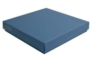 Goatbox - pudełko na kwadratową kartkę, granatowe mat. 14,5x14,5x4cm