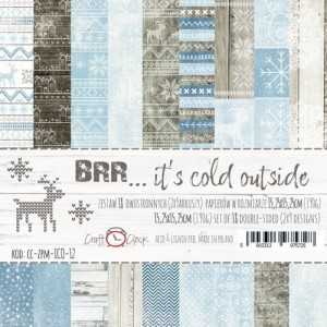 Craft O'Clock -  BRR... IT'S COLD OUTSIDE - ZESTAW PAPIERÓW 15,25X15,25CM