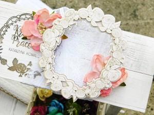 Twoja Tekturka - Wedding Day - Kwiatowy owal - mały - 3d