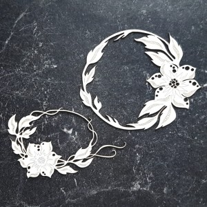 Miszmasz papierowy - Ramki z kwiatuszków Gosi
