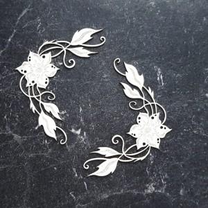 Miszmasz papierowy - Narożniki z kwiatuszków Gosi