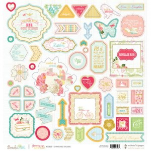 Websters Pages - Websters Pages - Growing Up Girl Collection - 12 x 12 Chipboard Stickers