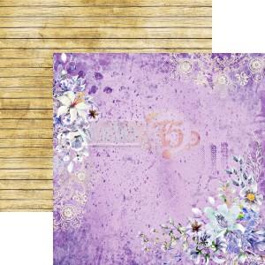 Studio 75 Dwustronny papier do scrapbookingu Violet love 04