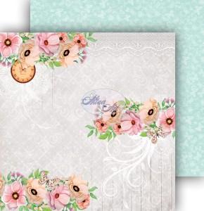 AltairArt -  Dwustronny papier do scrapbookingu Spring Blossoms  01