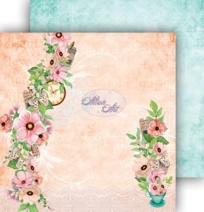 AltairArt -  Dwustronny papier do scrapbookingu Spring Blossoms  06
