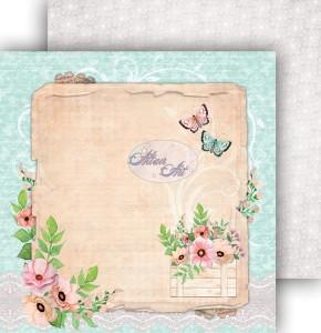 AltairArt -  Dwustronny papier do scrapbookingu Spring Blossoms  07