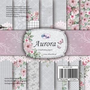 AltairArt - Aurora -  zestaw papierów do scrapbookingu 15 cm x 15 cm
