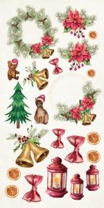 AltairArt - Papier do scrapbookingu Festive Bells  dodatki do wycinania 15 x 30,5 cm
