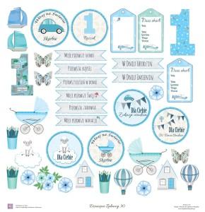 Skarbnica Pomysłów -  Jednostronny papier do scrapbookingu Dziecięce Zabawy 30