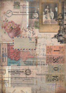 13arts - papier do scrapbookingu - Conversations on trains -  Telegram received A4