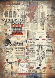 13arts - papier do scrapbookingu - Conversations on trains -  Australian Journal A4