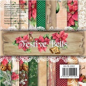 AltairArt - Festive Bells vol.2 - bloczek papierów do scrapbookingu 15x15 cm