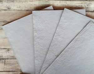 Papier czerpany szary  A4, 200 gsm, 10 arkuszy
