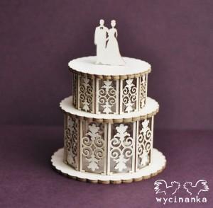 Wycinanka - JUST MARRIED - dekoracyjny tort 3D