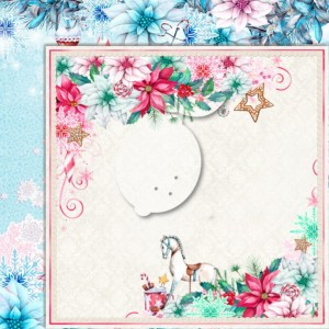 LemonCraft DWUSTRONNY PAPIER DO SCRAPBOOKINGU - JOY TO THE WORLD 06