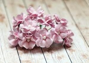 Kwiaty mulberry 10 szt.  różowe