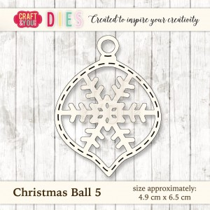 Craft&You Design Wykrojnik Christmas Ball 5-bombka 5