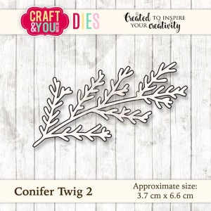 Craft&You Design Conifer Twig 2 - gałązka iglasta 2