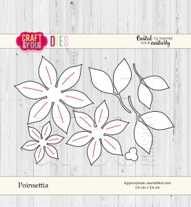 Craft&You Design Poinsettia - poinsencja