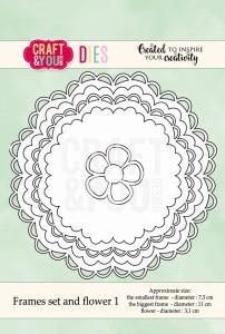 Craft&You Design wykrojnik  frames set and flower 1 - okrągłe ramki i kwiatek