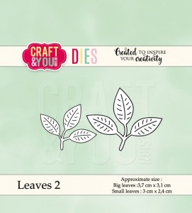 Craft&You Design wykrojnik  Leaves 2- listki 2