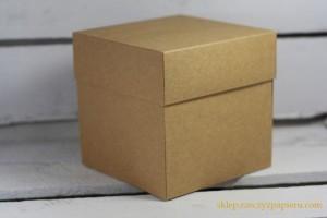 Rzeczy z papieru - Pudełko exploding box - kraft - 10x10x10cm