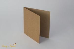 Rzeczy z papieru - Baza do kartki - kraft - 14x14cm