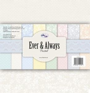 AltairArt - Ever & Always Pastel  zestaw papierów do scrapbookingu  30x30