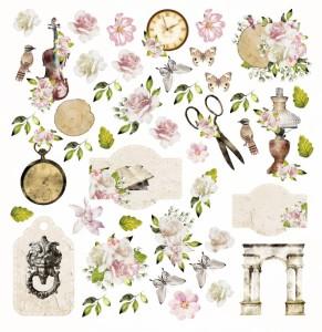AltairArt - papier do scrapbookingu  Mysterious Garden elementy do wycinania 30x30
