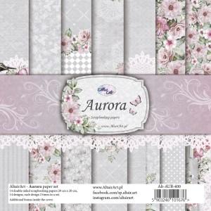 AltairArt - Aurora -  zestaw papierów do scrapbookingu 20 cm x 20 cm