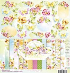 Magiczna Kartka - Kwiatowy Czar zestaw 30x30