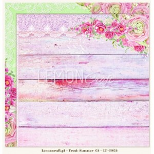 LemonCraft Dwustronny papier do scrapbookingu - Fresh Summer 03
