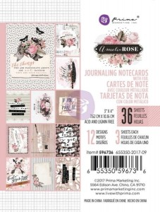 Amelia Rose - Karty 3x4 Journaling Cards