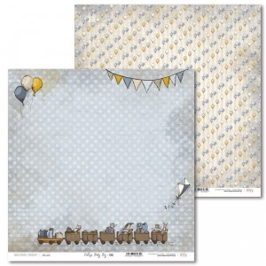 Laserowe Love - Papier do scrapbookingu 30,5 x 31,5 cm  - Vintage Baby Boy 06