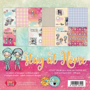 "Craft&You Design  Zestaw papierów 12x12"" Stay at Home"