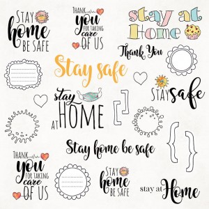 "Craft&You Design  12x12"" Stay at Home 07"