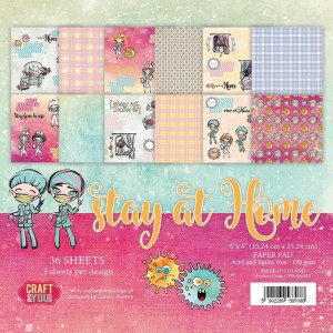 "Craft&You Design Bloczek 6x6"" Stay at Home"