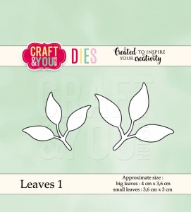 Craft&You Design wykrojnik  Leaves 1 - listki 1