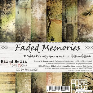 Craft o clock FADED MEMORIES - ZESTAW PAPIERÓW 15,25X15,25CM