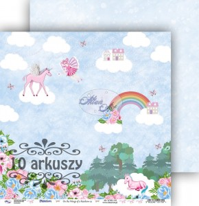 AltairArt - papier do scrapbookingu  On the Wings of a Rainbow 02   10 arkuszy
