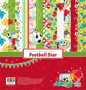 ScrapBerry's - zestaw papierów do scrapbookingu Football Star