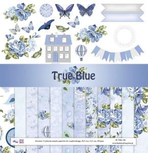 Skarbnica Pomysłów - True Blue zestaw 12 papierów