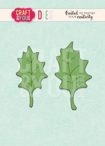 Craft&You Design - WYKROJNIK- Holly leaves-listki ostrokrzewu