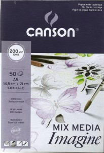 Blok A5 50 arkuszy Mix-Media Canson Imagine