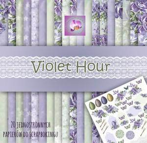 Skarbnica Pomysłów - Violet hour - zestaw 30x30 - 20 papierów