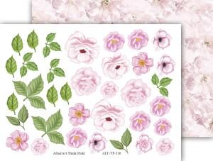 AltairArt - Think Pink!  10 - papier 15x20,  elementy do wycinania